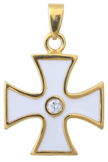 Σταυρός επίχρυσος ασημένιος 925 ASC369 Ασήμι ασημένια κοσμήματα σταυροί