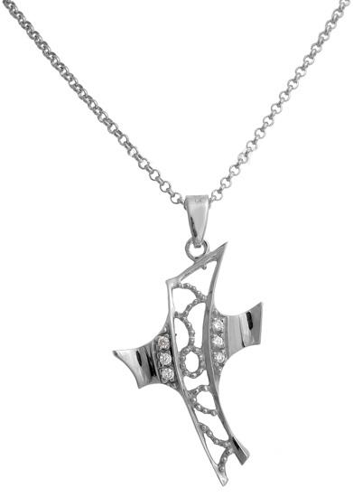 Σταυρός ασημένιος 925 ASC492B Ασήμι ασημένια κοσμήματα σταυροί
