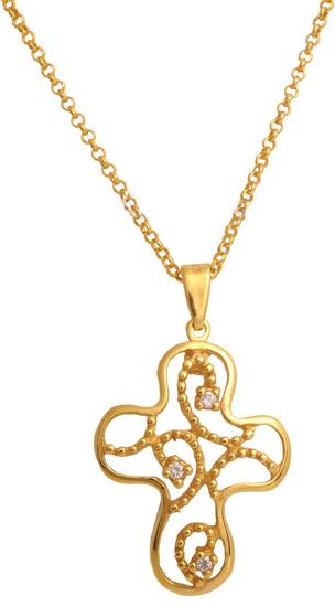 Επίχρυσος σταυρός 925 ASC493 Ασήμι ασημένια κοσμήματα σταυροί