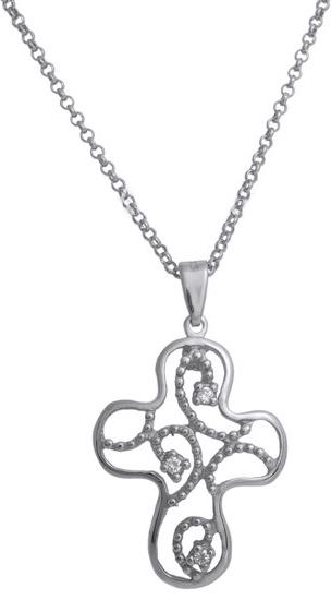 Ασημένιος σταυρός 925 ASC493B ασημένια κοσμήματα σταυροί