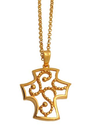 Σταυρός επίχρυσος ασημένιος 925 ASC495 Ασήμι ασημένια κοσμήματα σταυροί