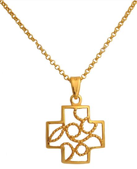 Επίχρυσος σταυρός ασημένιος 925 ASC496 Ασήμι ασημένια κοσμήματα σταυροί