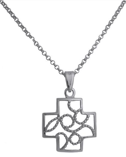 Σταυρός ασημένιος 925 ASC496B Ασήμι ασημένια κοσμήματα σταυροί