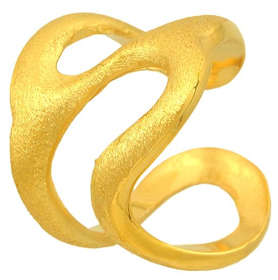 Ασημένιο επίχρυσο δαχτυλίδι 925 ASD1 Ασήμι