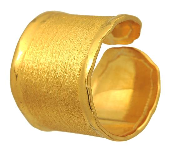 Δαχτυλίδι Σεβαλιέ ασημένιο επίχρυσο 925 ASD124 Ασήμι
