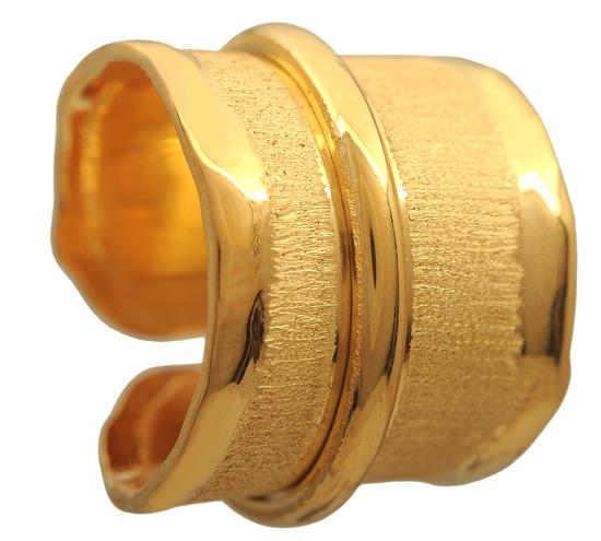 Επίχρυσο σεβαλιέ δαχτυλίδι 925 ASD124BK Ασήμι