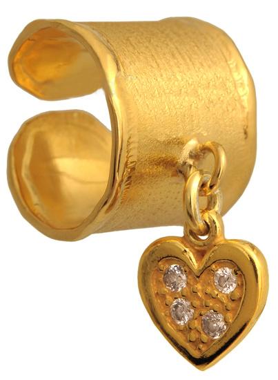 Σεβαλιέ επίχρυσο ασημένιο δαχτυλίδι 925 ASD317-10 Ασήμι