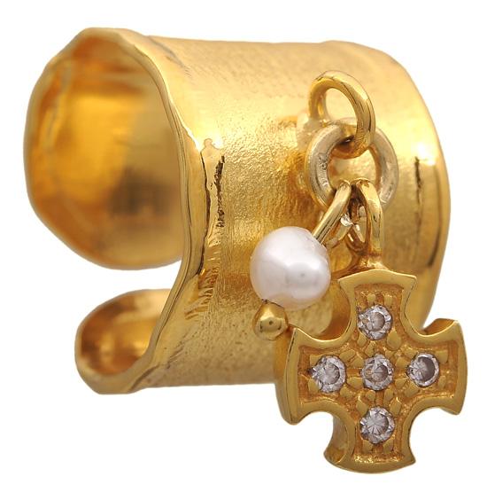 Σεβαλιέ επίχρυσο ασημένιο δαχτυλίδι 925 ASD317-13K Ασήμι