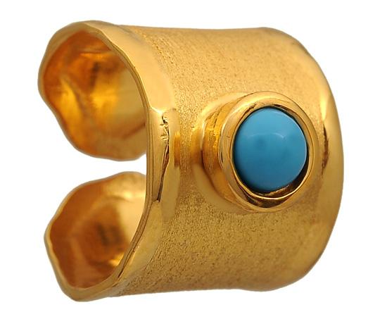 Επίχρυσο σεβαλιέ δαχτυλίδι 925 ASD371-16KM Ασήμι