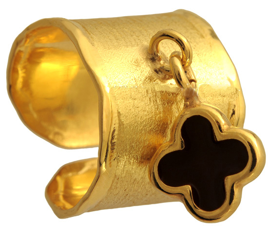 Σεβαλιέ επίχρυσο ασημένιο δαχτυλίδι 925 ASD317-2 Ασήμι
