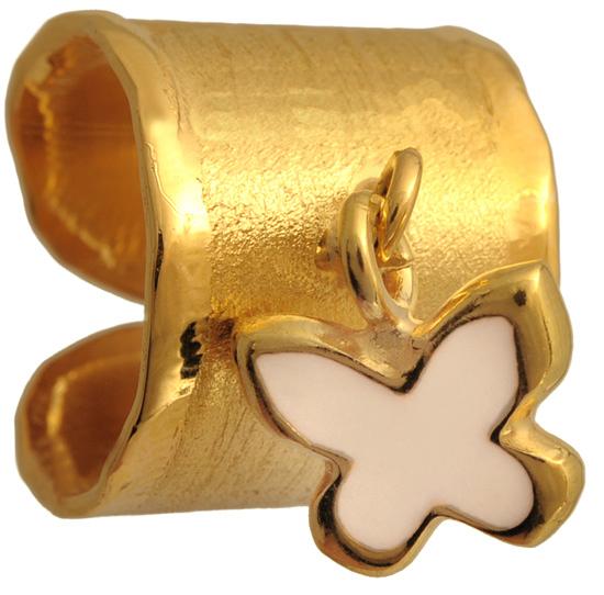 Επίχρυσο ασημένιο δαχτυλίδι σεβαλιέ 925 ASD317-3 Ασήμι