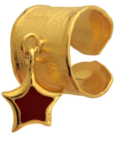 Σεβαλιέ επίχρυσο ασημένιο δαχτυλίδι 925 ASD317-4 Ασήμι