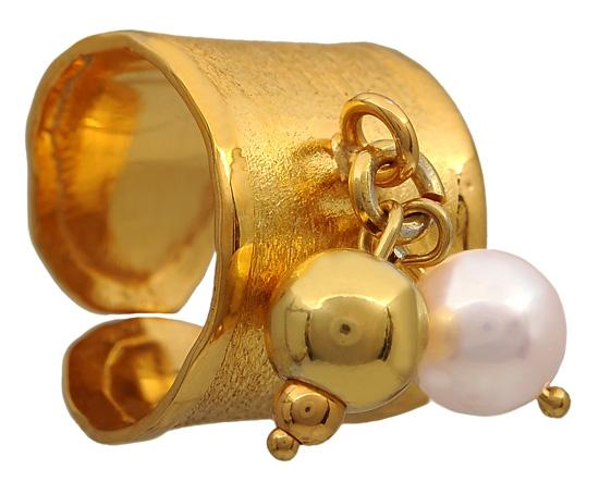 Επίχρυσο σεβαλιέ δαχτυλίδι 925 ASD317-6K ASD317-6K Ασήμι
