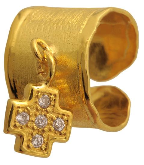 Επίχρυσο ασημένιο δαχτυλίδι 925 ASD317-8 Ασήμι