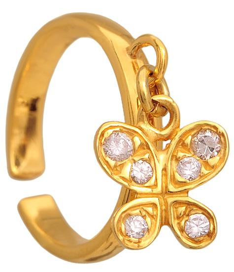 Σεβαλιέ επίχρυσο ασημένιο δαχτυλίδι 925 ASD318-9 Ασήμι