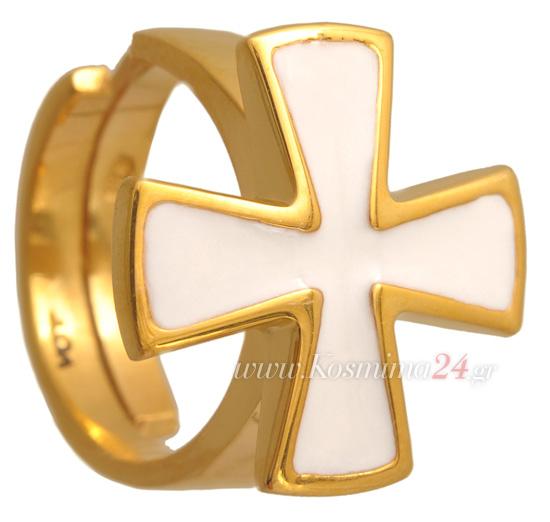 Επίχρυσο δαχτυλίδι 925 ASD318-A Ασήμι