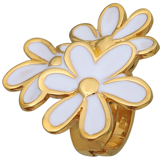 Επίχρυσο ασημένιο δαχτυλίδι 925 ASD323 Ασήμι ασημένια κοσμήματα δαχτυλίδια