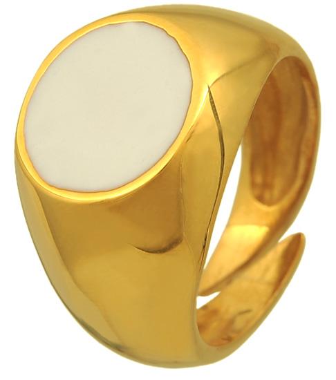 Σεβαλιέ δαχτυλίδι ασημένιο επιχρυσωμένο 925 ASD325 Ασήμι ασημένια κοσμήματα δαχτυλίδια