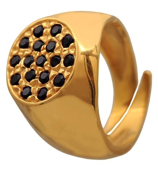 Επίχρυσο σεβαλιέ δαχτυλίδι 925 ASD325BM Ασήμι