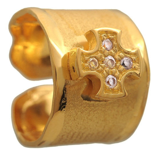 Σεβαλιέ επίχρυσο ασημένιο δαχτυλίδι 925 ASD371-13K Ασήμι