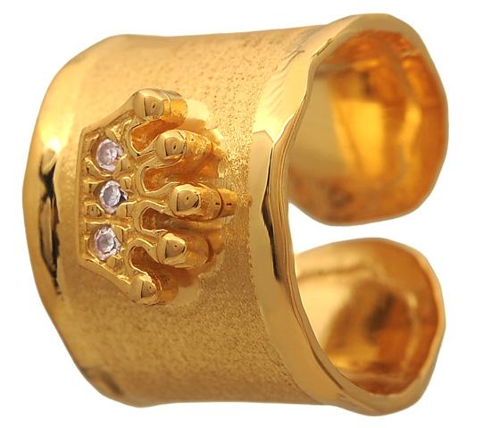 Επίχρυσο σεβαλιέ δαχτυλίδι 925 ASD371-14K Ασήμι