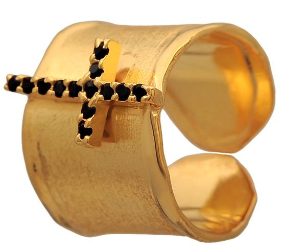 Επίχρυσο σεβαλιέ δαχτυλίδι 925 ASD371-18K Ασήμι