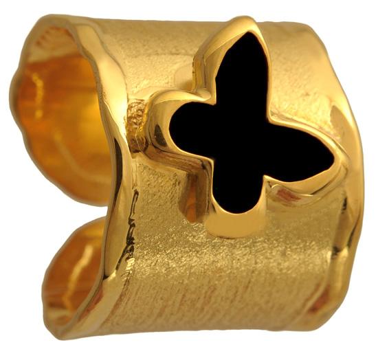 Επίχρυσο δαχτυλίδι σεβαλιέ 925 ASD371-3 Ασήμι