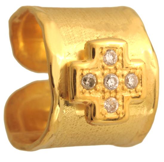 Επίχρυσο ασημένιο δαχτυλίδι σεβαλιέ 925 ASD371-8 Ασήμι