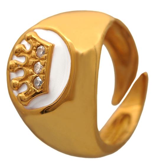 Επίχρυσο σεβαλιέ δαχτυλίδι 925 ASD383B Ασήμι