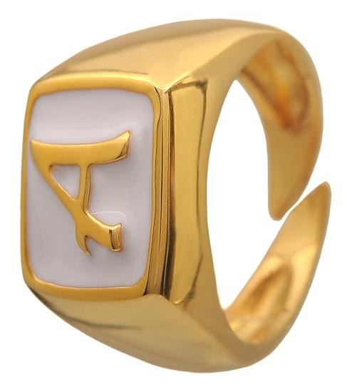Σεβαλιέ επίχρυσο ασημένιο δαχτυλίδι 925 ASD384A Ασήμι
