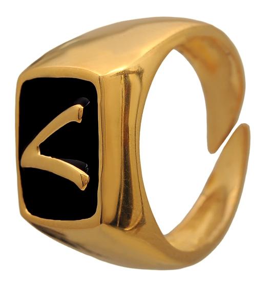 Επίχρυσο σεβαλιέ δαχτυλίδι 925 ASD384L Ασήμι