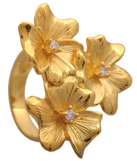 Δαχτυλίδι επίχρυσο ασημένιο 925 ASD410 Ασήμι