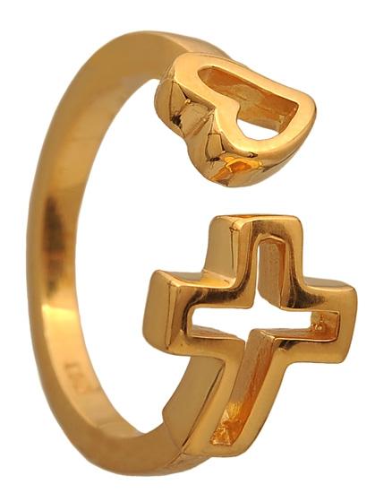 Επίχρυσο ασημένιο δαχτυλίδι 925 ASD414K Ασήμι