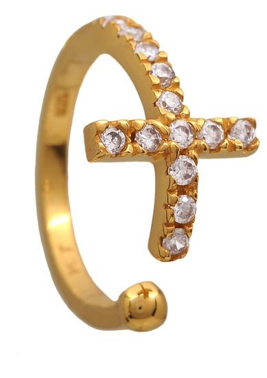 Επίχρυσο ασημένιο δαχτυλίδι 925 ASD415KA Ασήμι