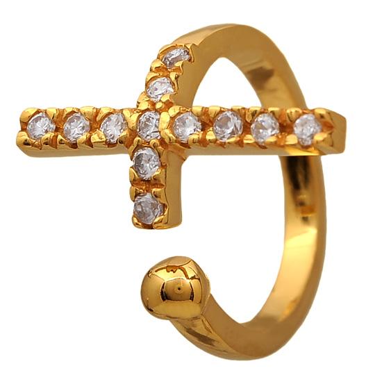 Επίχρυσο ασημένιο δαχτυλίδι 925 ASD416KA Ασήμι