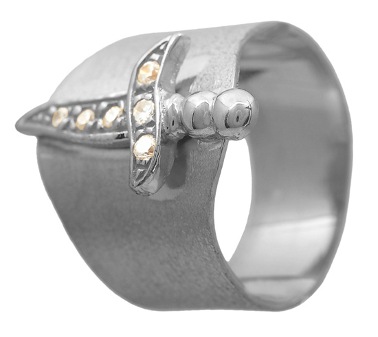 Σεβαλιέ ασημένιο δαχτυλίδι 925 ASD424 Ασήμι