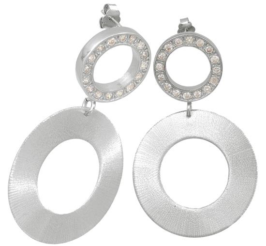 Ασημένια σκουλαρίκια 925 ASS101 Ασήμι