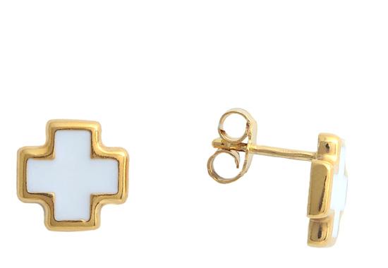 Επίχρυσα ασημένια σκουλαρίκια 925 ASS2 Ασήμι