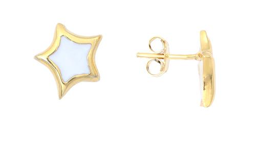 Επίχρυσα ασημένια σκουλαρίκια 925 ASS4 Ασήμι