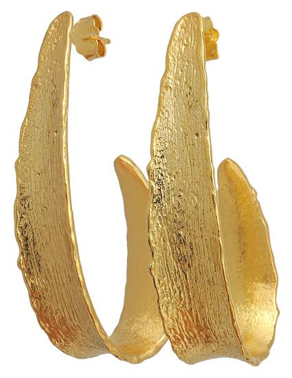 Επίχρυσα ασημένια σκουλαρίκια 925 ASS44 Ασήμι