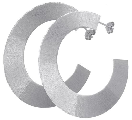 Ασημένια σκουλαρίκια-κρίκοι ASS84 Ασήμι