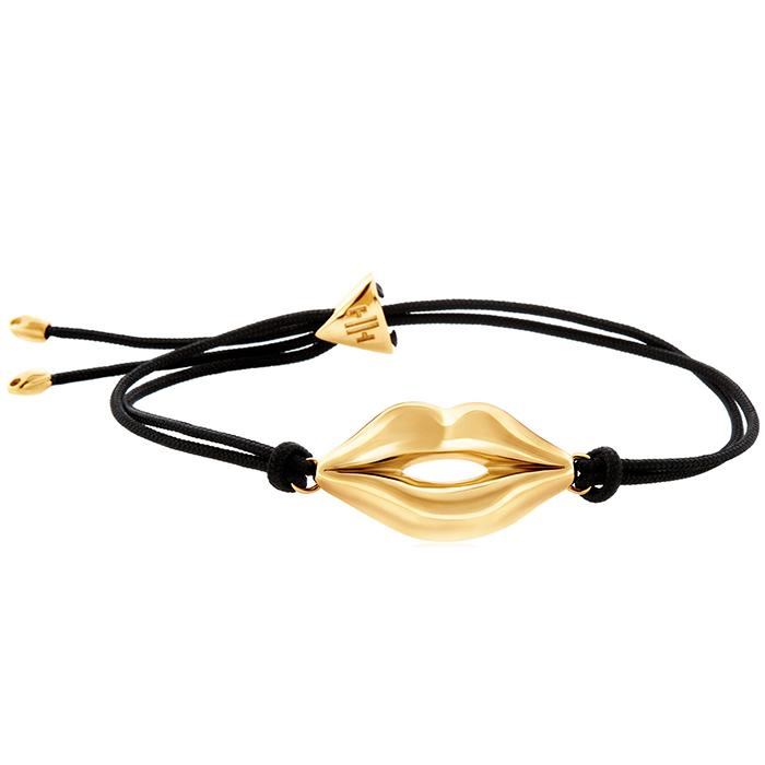 Bracelet lips gold B40 B40 Ορείχαλκος