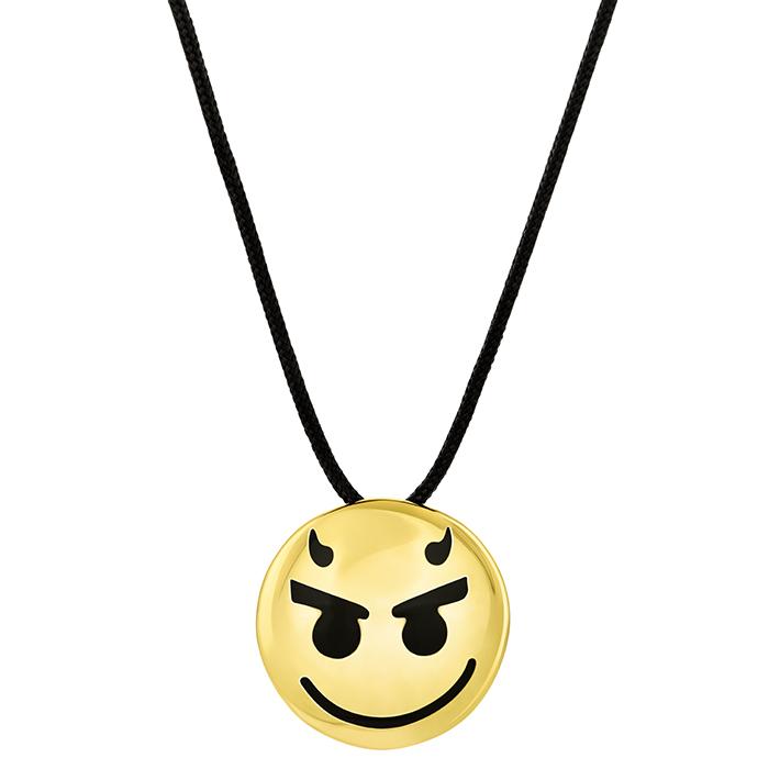 Pendant Devil emoji BP178Y BP178Y Ορείχαλκος