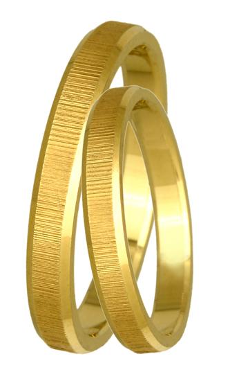 Χρυσές βέρες γάμου ματ Κ14 BR0088 BR0088 Χρυσός 14 Καράτια μεμονωμένο τεμάχιο