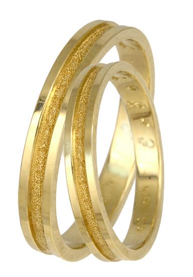 Χρυσές Βέρες Γάμου Κ14 BR0279Κ Χρυσός 14 Καράτια