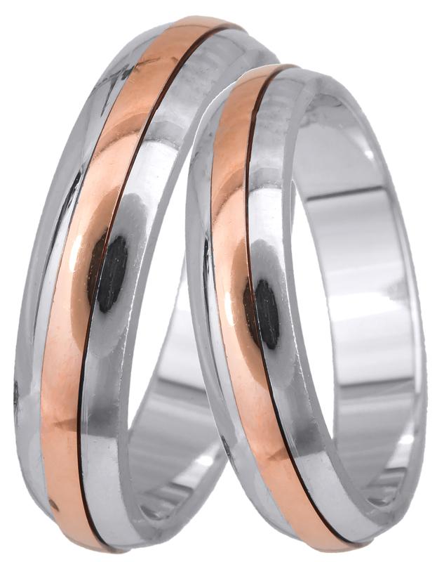 Δίχρωμη Βέρα Κ14 με ροζ χρυσό BR0293 BR0293 Χρυσός 14 Καράτια