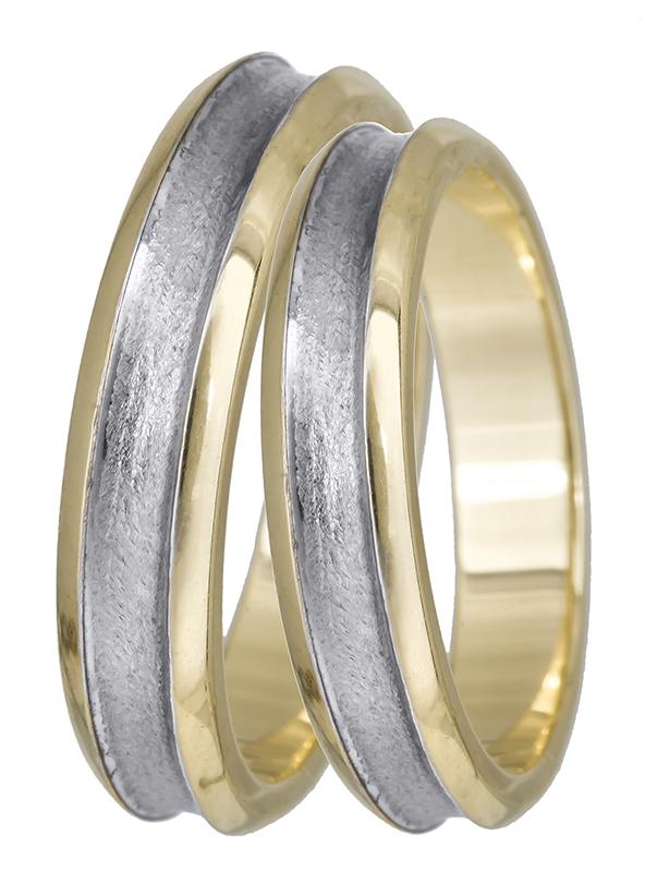 Βέρες γάμου δίχρωμες 14Κ BR0302 BR0302 Χρυσός 14 Καράτια