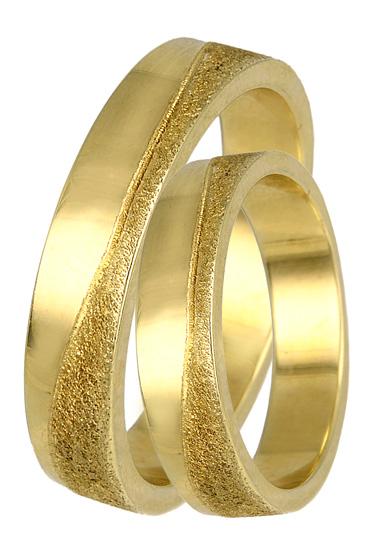 Xρυσές βέρες Κ14 ζαγρέ ματ BR0324 Χρυσός 14 Καράτια