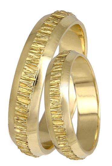 Xρυσές βέρες σκαλιστές Κ14 BR0394 Χρυσός 14 Καράτια