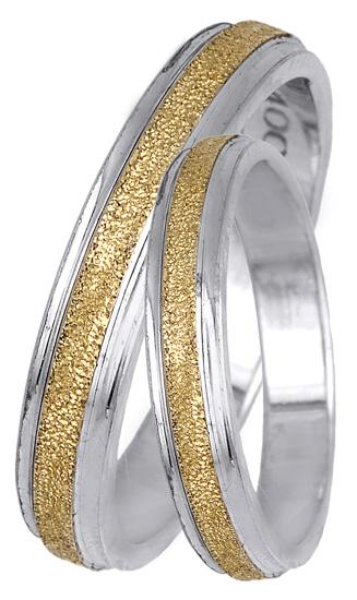 Δίχρωμες βέρες από χρυσό 14Κ BR0400 Χρυσός 14 Καράτια